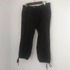 Lole Hiking Outdoor Chocolate Brown Cropped Cargo